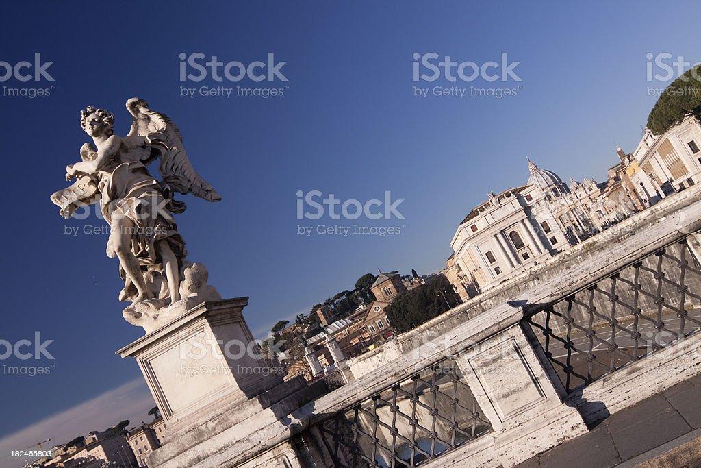 Ponte Sant'Angelo, Roma Italia royalty-free stock photo