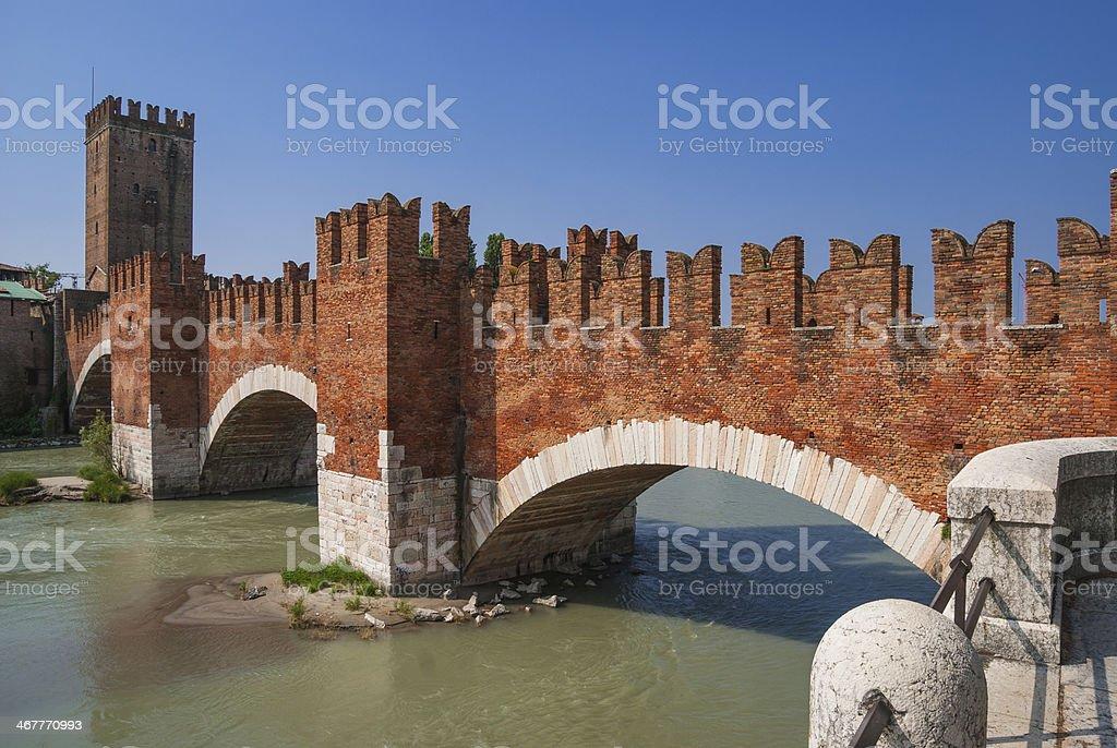 Ponte Scaligero stock photo