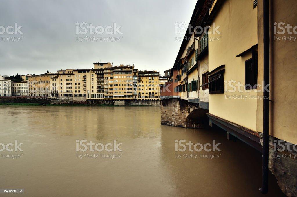Ponte Vecchio, Arno River, Florence stock photo