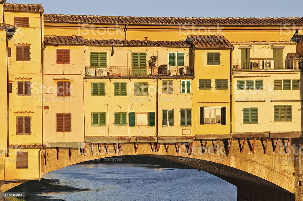 Ponte Vecchio at dusk royalty-free stock photo