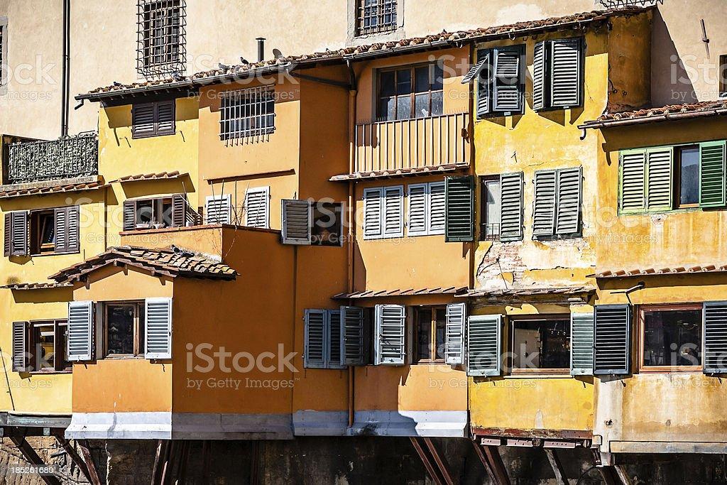 Ponte Vecchio Bridge Colorful Detail, Firenze royalty-free stock photo