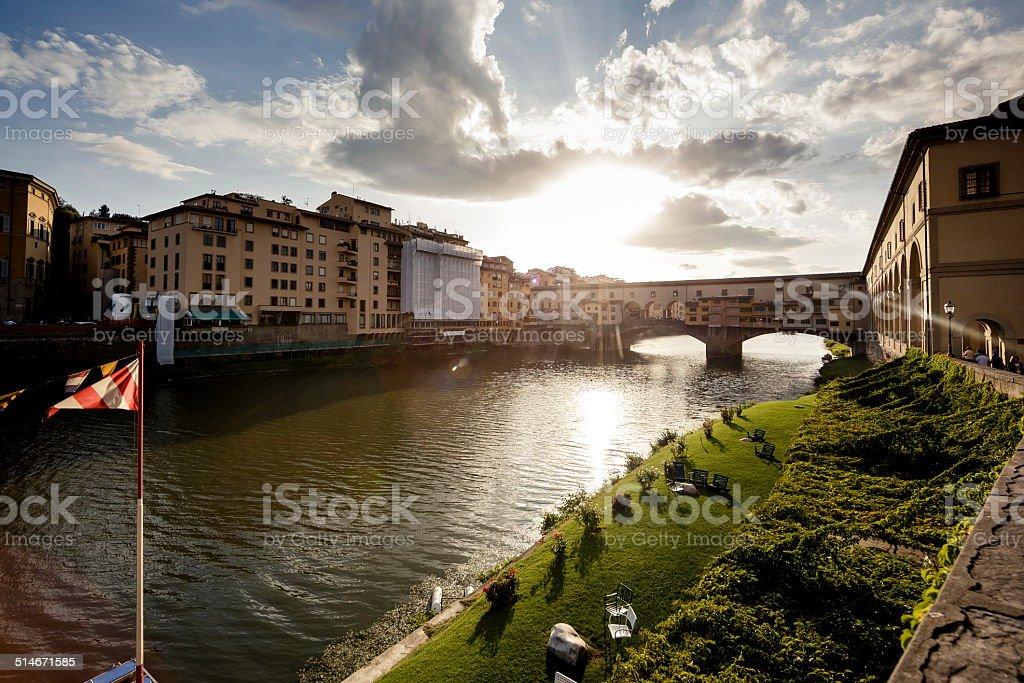 Ponte Vecchio Bridge, Florence stock photo
