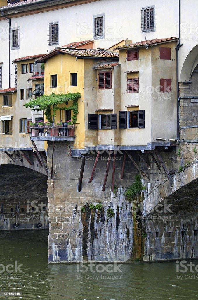 Ponte Vecchio, detail - Florence Tuscany Italy royalty-free stock photo