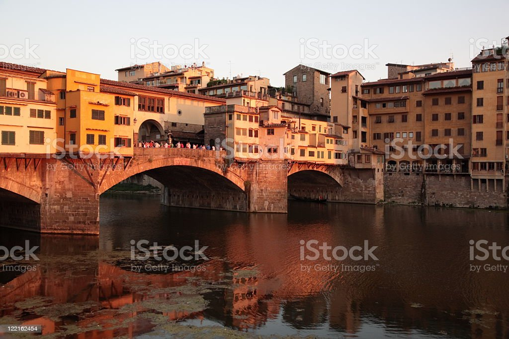 Ponte Vecchio during the sunset royalty-free stock photo