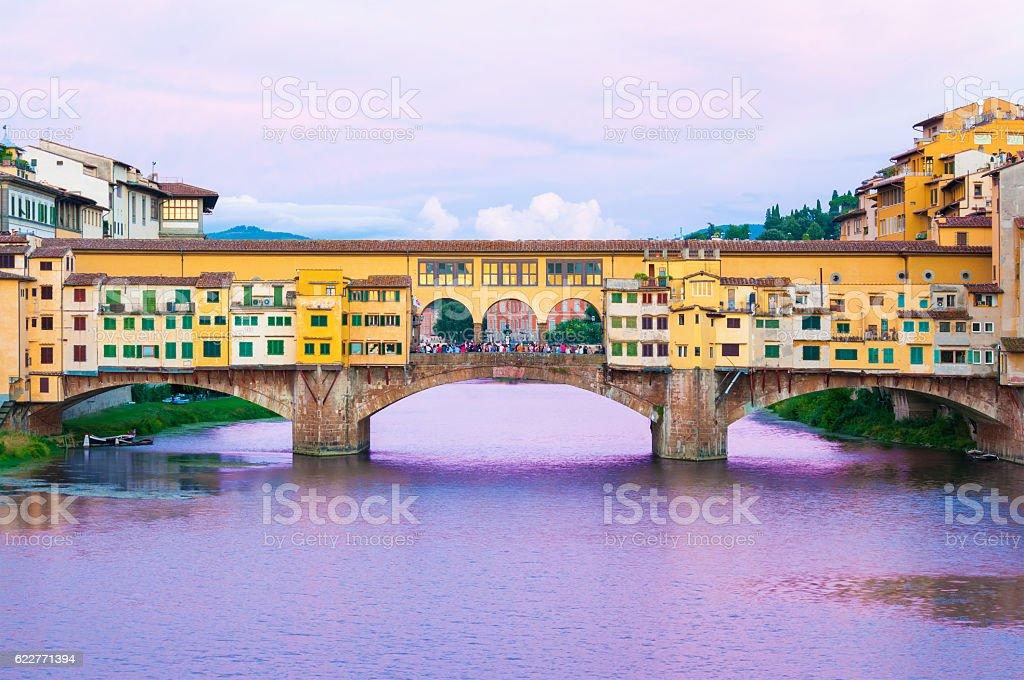 Ponte Vecchio Florence Italy stock photo