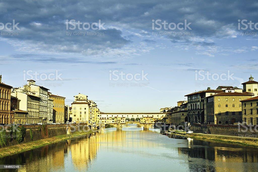 Ponte Vecchio in Florence royalty-free stock photo