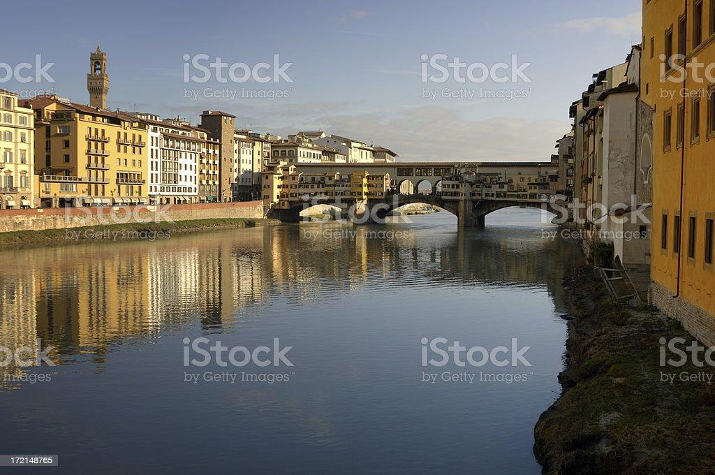 Ponte Vecchio Ochre royalty-free stock photo