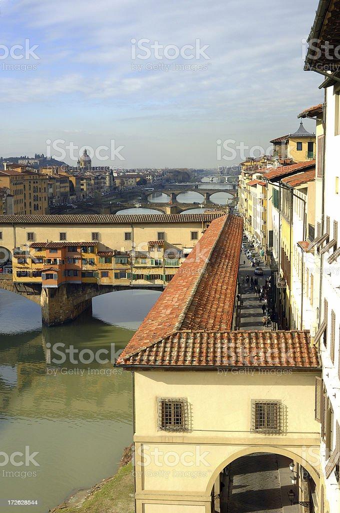 Ponte Vecchio Rooftop royalty-free stock photo