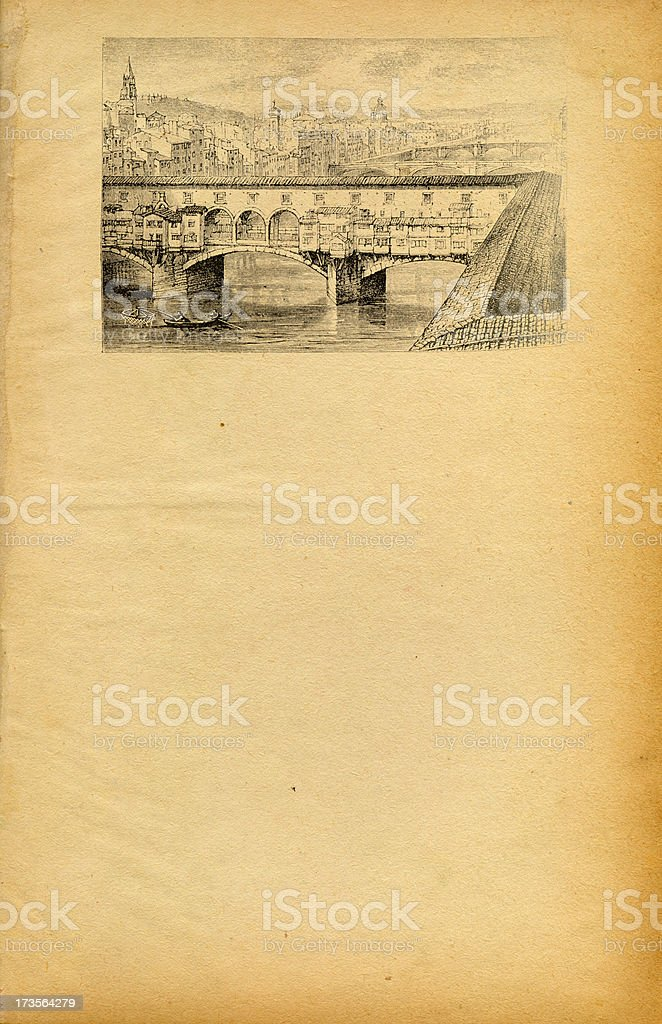 Ponte Veccio Flyer royalty-free stock photo