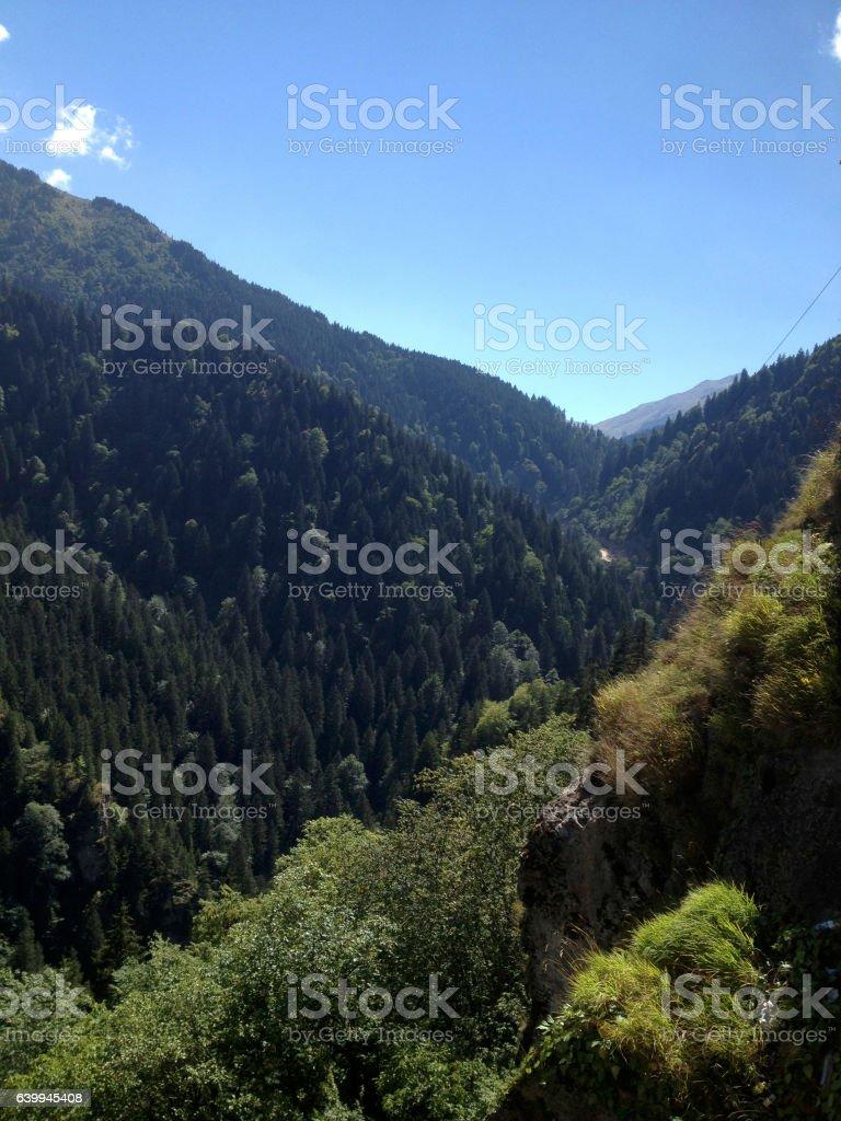 Pontic Mountains, near Trabzon, Turkey stock photo