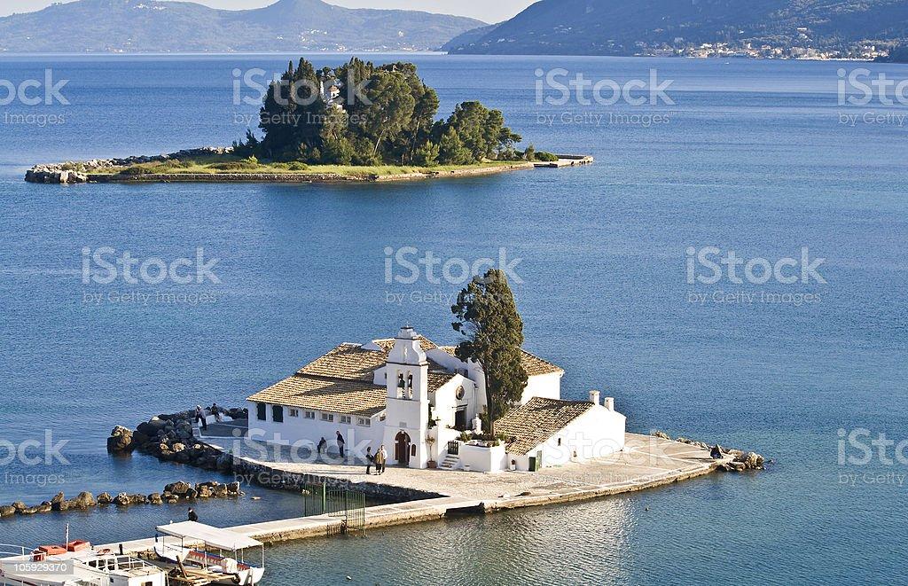Pontikonisi area at Corfu island, Greece stock photo