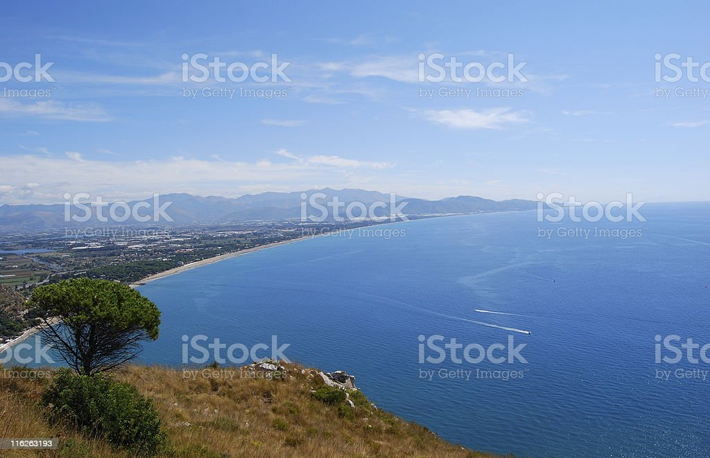 Costa Pontina stock photo