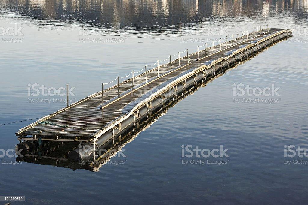 Pontoon Bridge stock photo