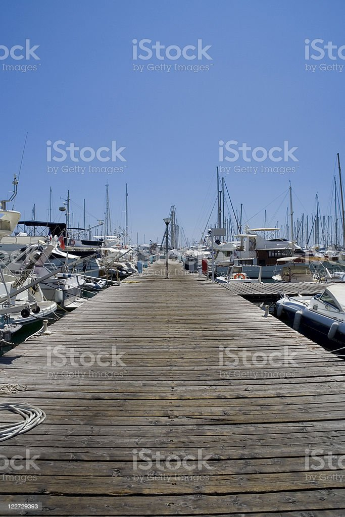 Pontoon in Cannes royalty-free stock photo