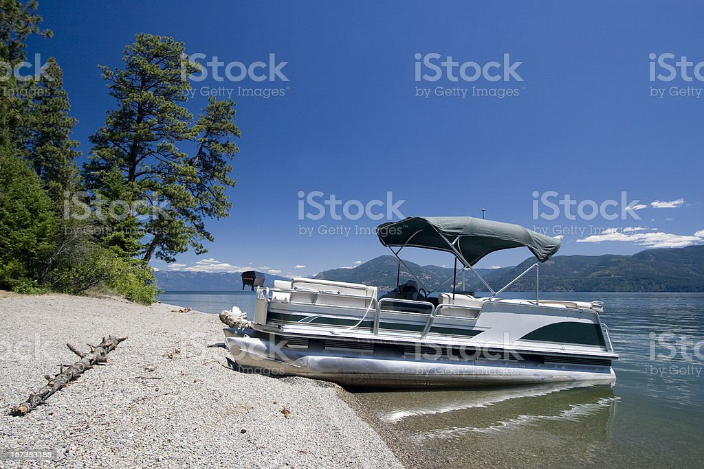 Pontoon on lake royalty-free stock photo