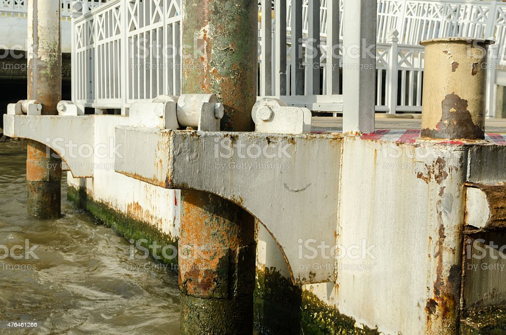 pontoon stock photo
