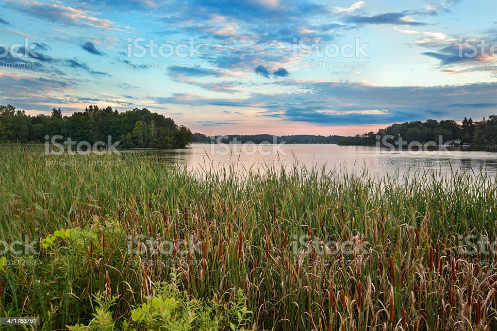 Pontoosuc Lake stock photo