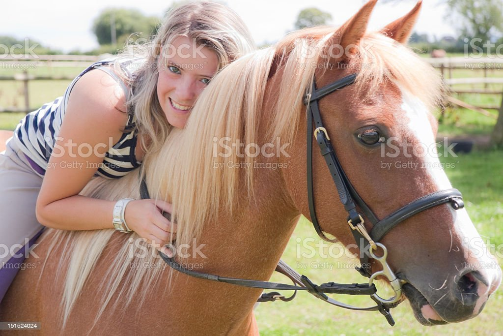 Pony love royalty-free stock photo