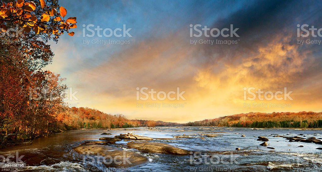 Pony Pasture on the James River Richmond Virginia stock photo