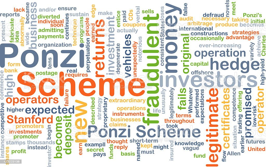 Ponzi scheme background concept stock photo
