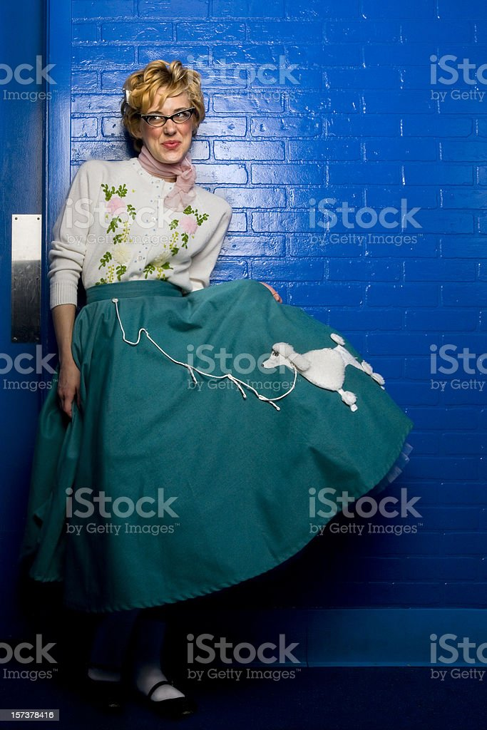 poodle skirt royalty-free stock photo
