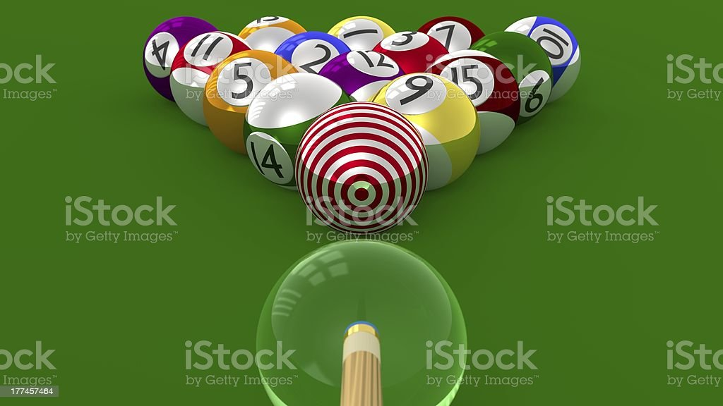 TARGET Pool - 8 Ball Focused as the Ultimate Goal stock photo