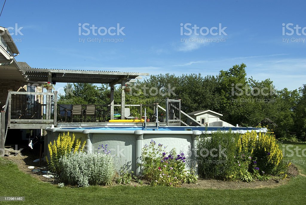 Pool and Deck stock photo