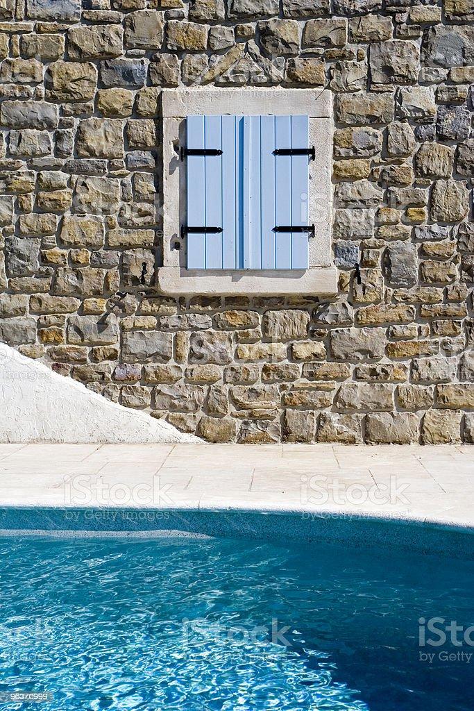 pool and window stock photo