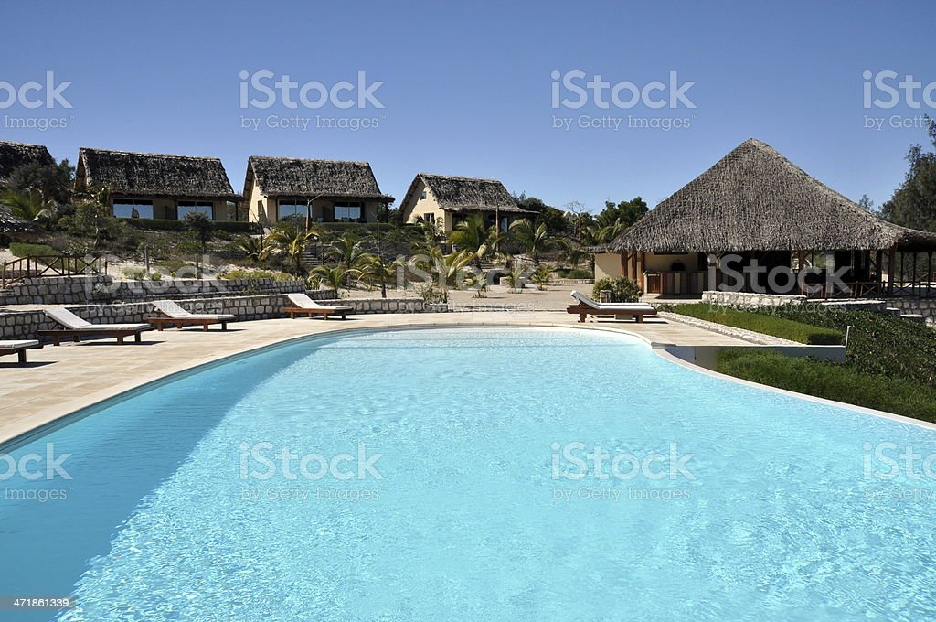 Pool area royalty-free stock photo