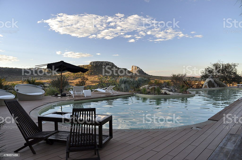Pool area royalty-free stock photo