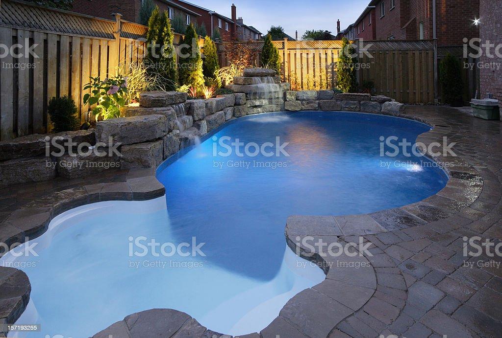 Pool at Dusk royalty-free stock photo
