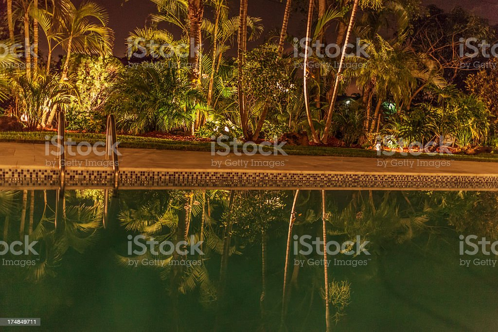Pool at night royalty-free stock photo