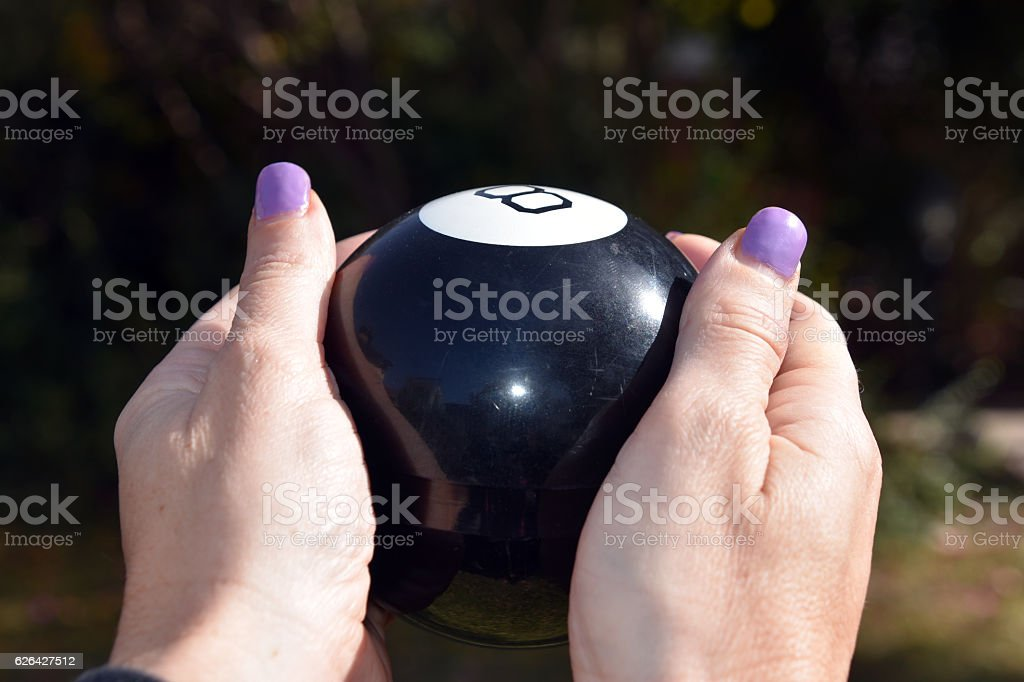 Pool ball Fortune Telling stock photo