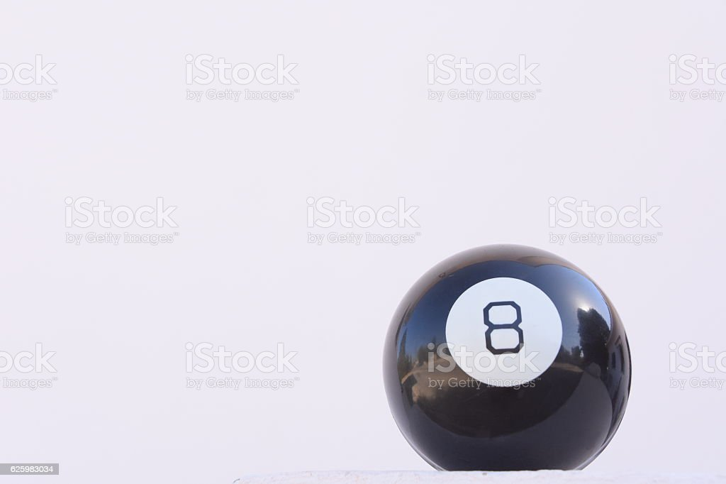 Pool ball in black isolated on whit stock photo