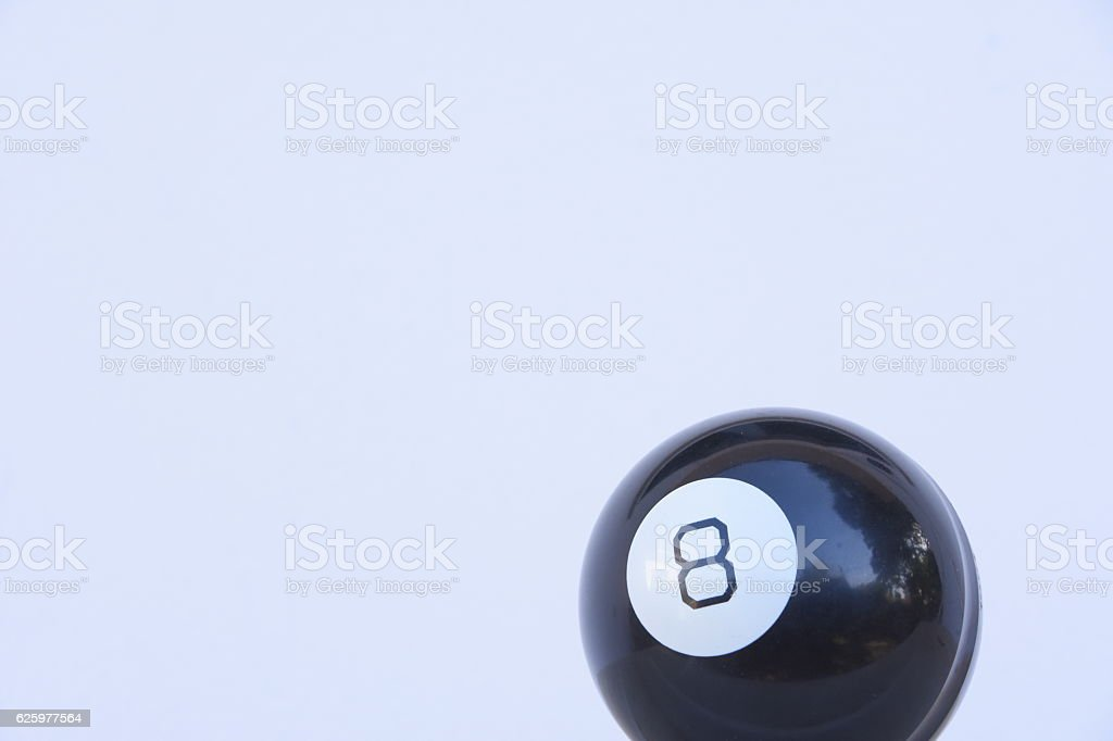 Pool ball in black isolated on white stock photo