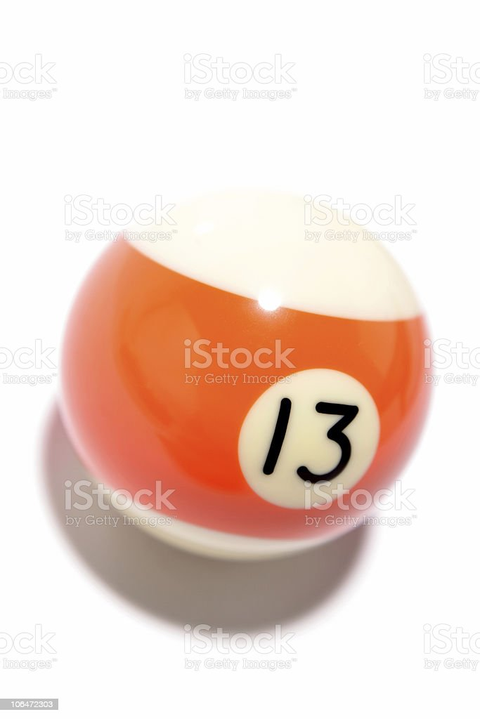 Pool ball royalty-free stock photo