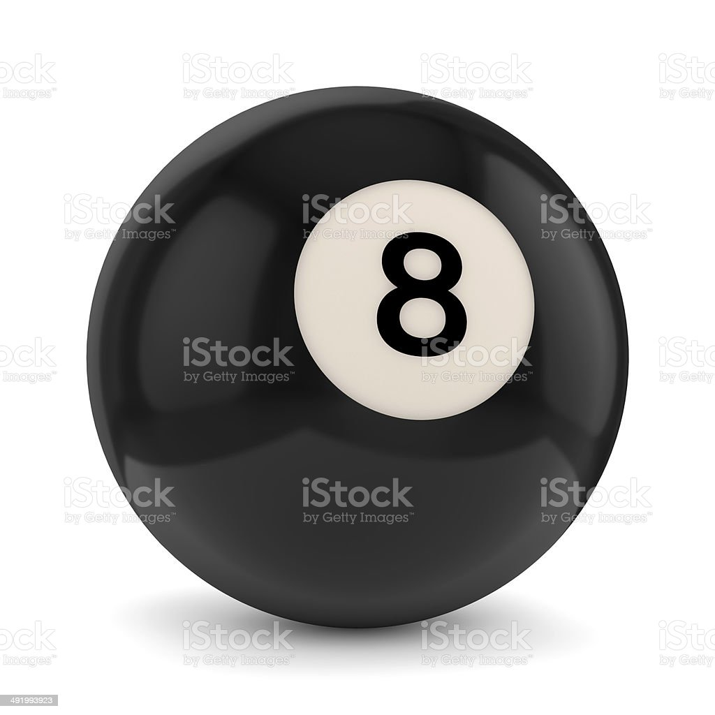 8 pool ball stock photo