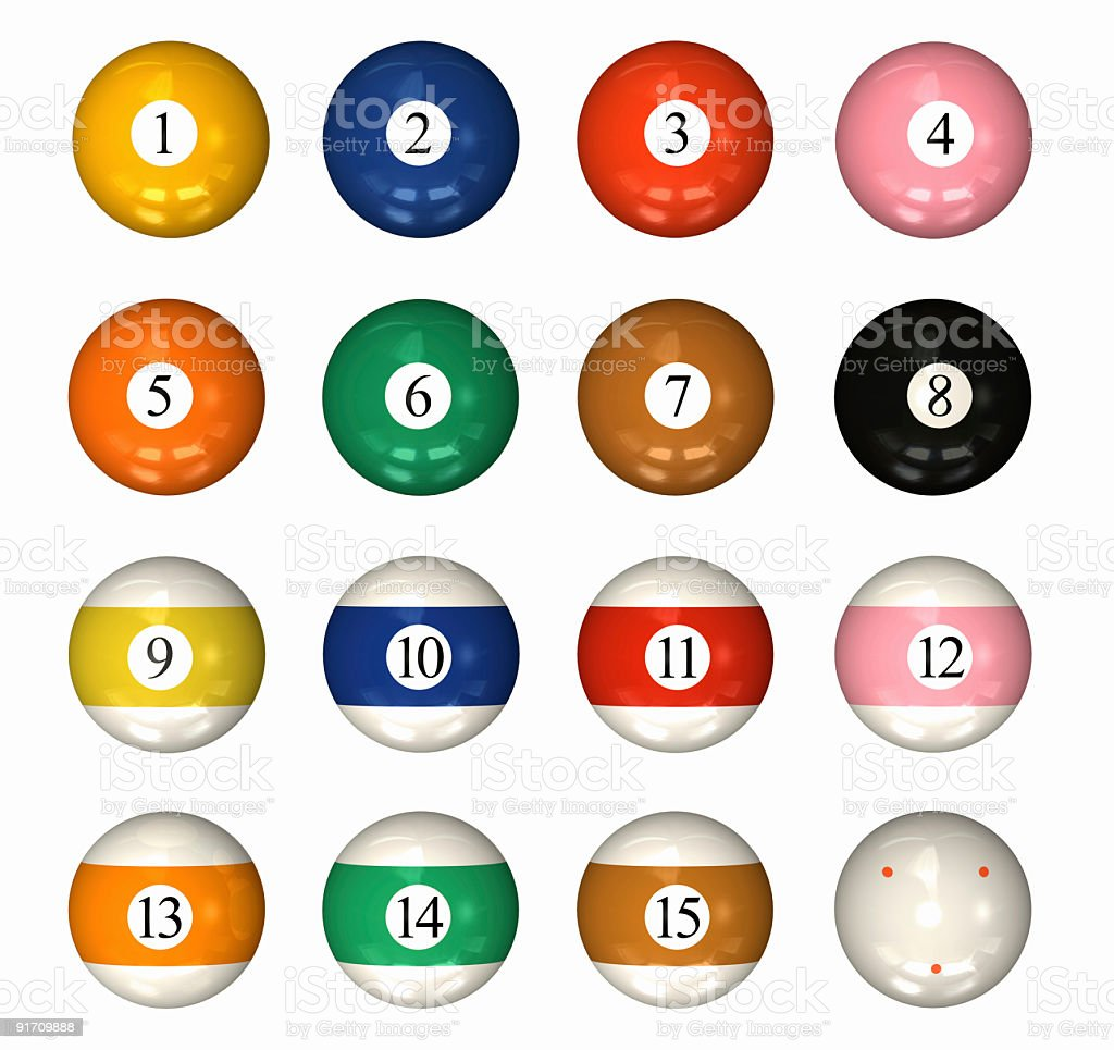 Pool Ball Sets stock photo