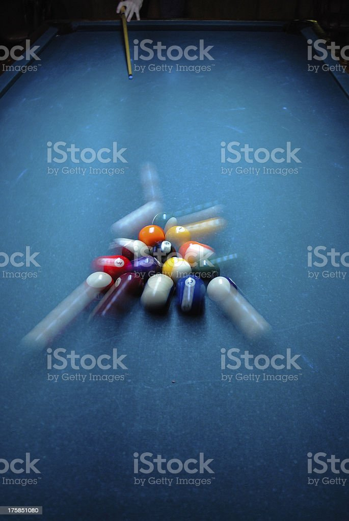 Pool Balls Breaking stock photo