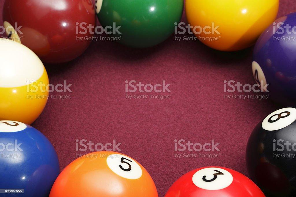 Pool balls circle. royalty-free stock photo