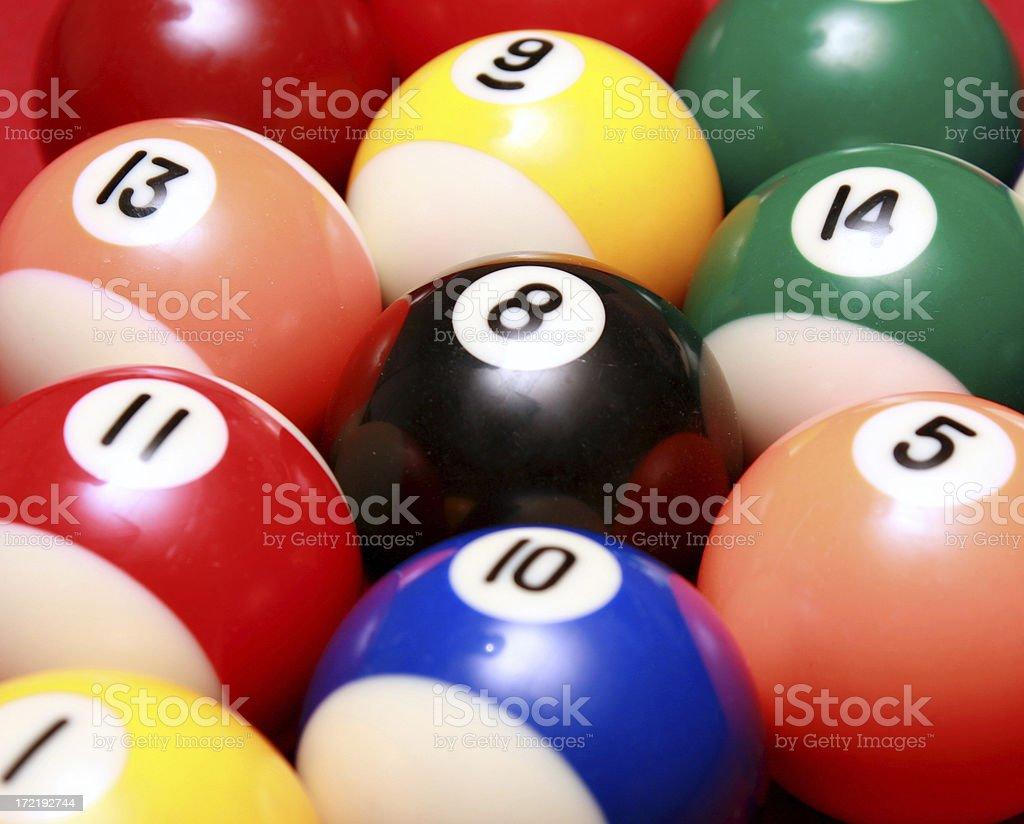 Pool Balls Close Up royalty-free stock photo