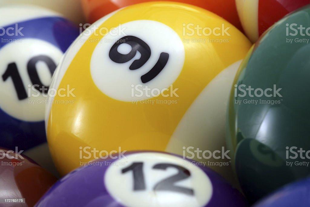 Pool balls royalty-free stock photo