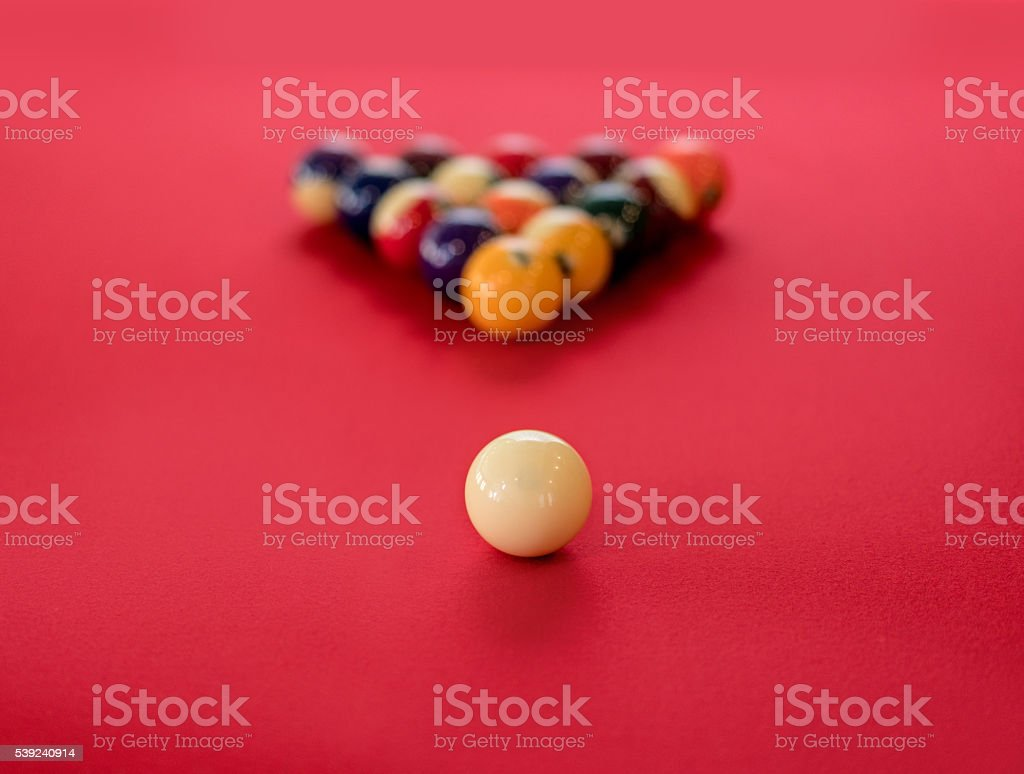Pool balls stock photo