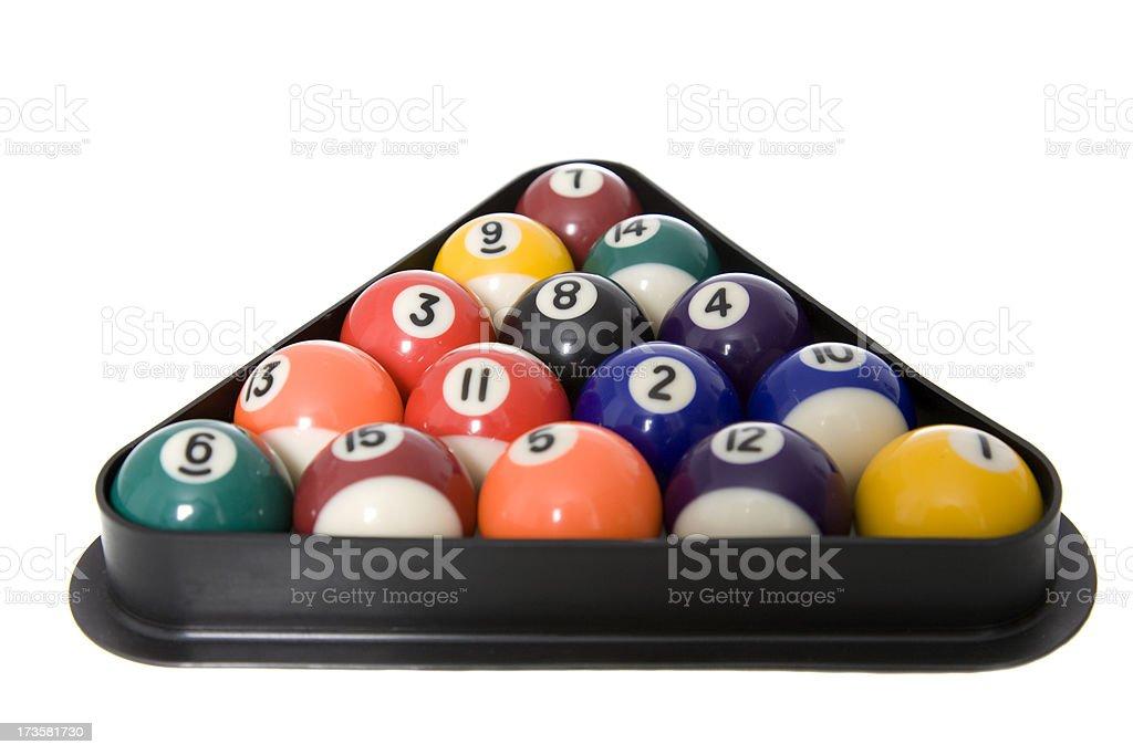Pool Balls Racked Up stock photo