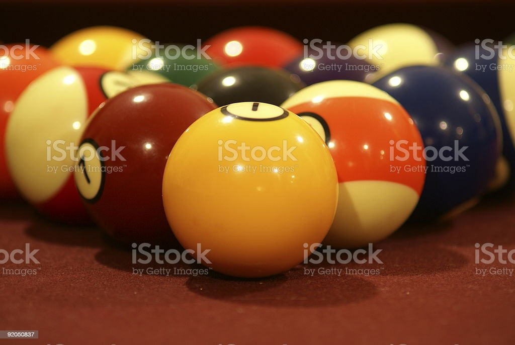 Pool Balls Up Close royalty-free stock photo
