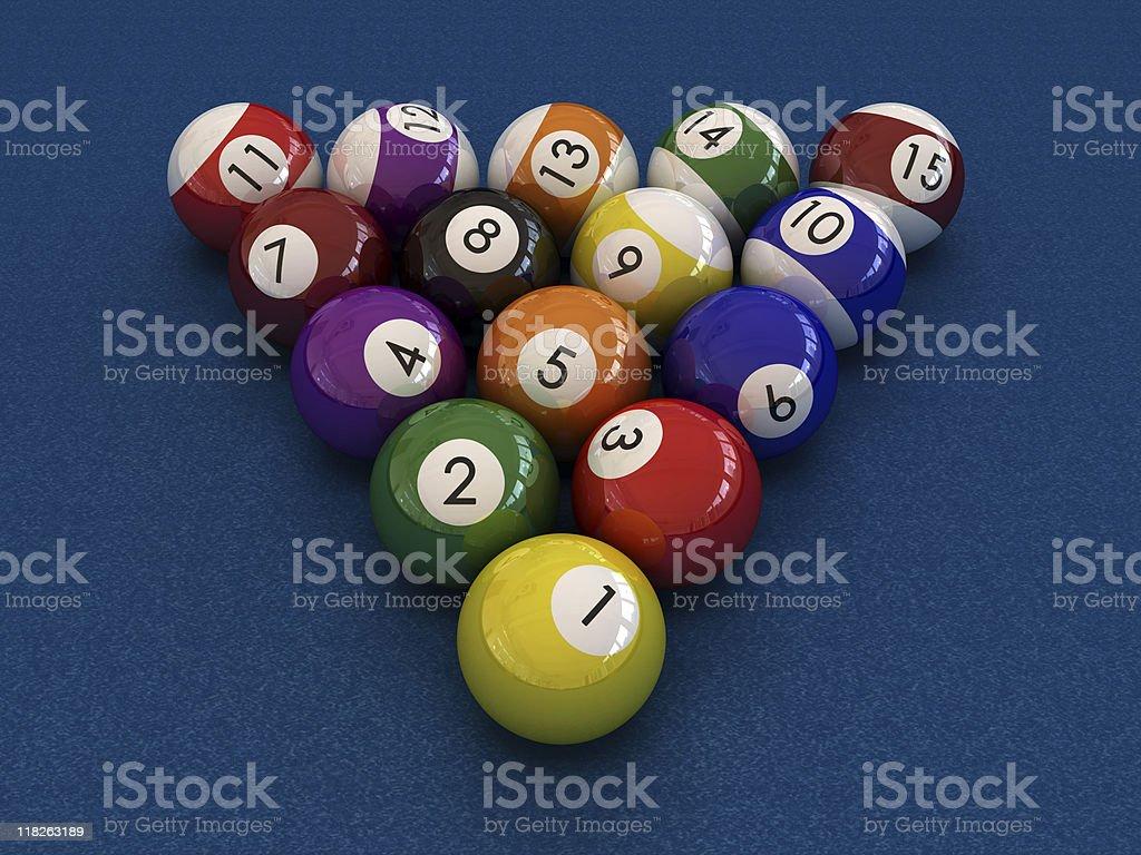 Pool bals. royalty-free stock photo