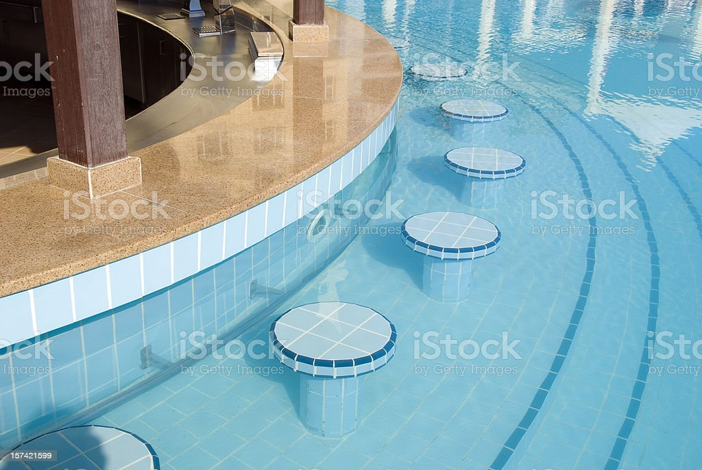 Pool bar stock photo