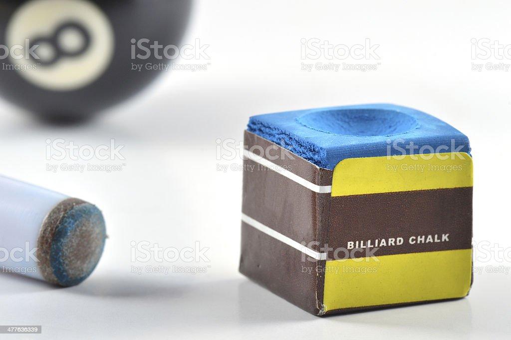 Pool Billiards | 8 Ball | Stick | Chalk royalty-free stock photo