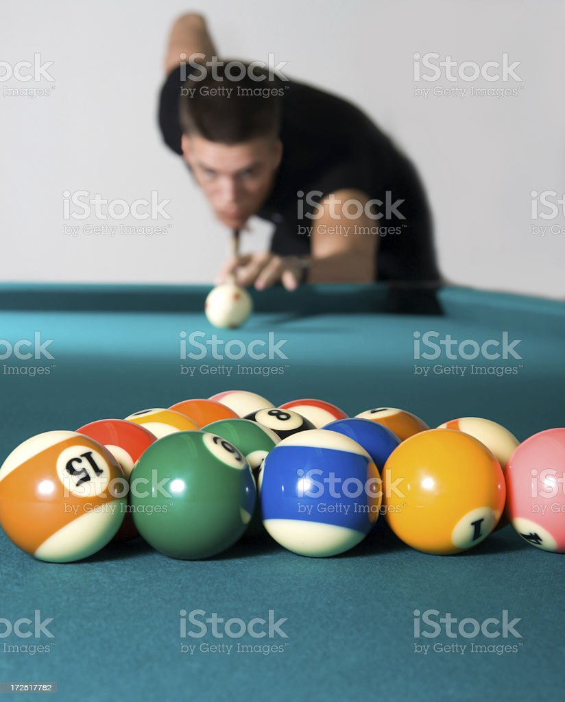 Pool break royalty-free stock photo