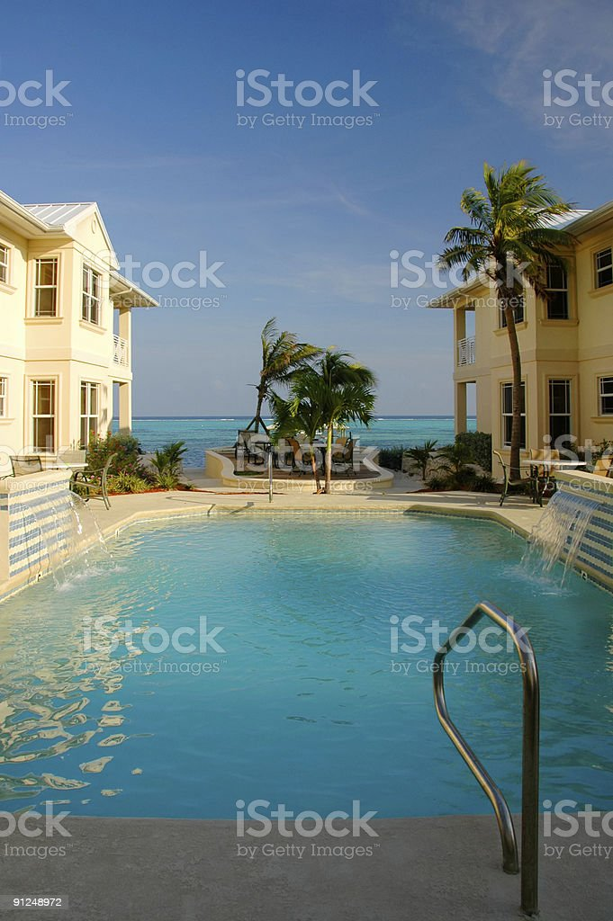 Pool by the Beach royalty-free stock photo